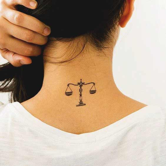 Best cute libra tattoos