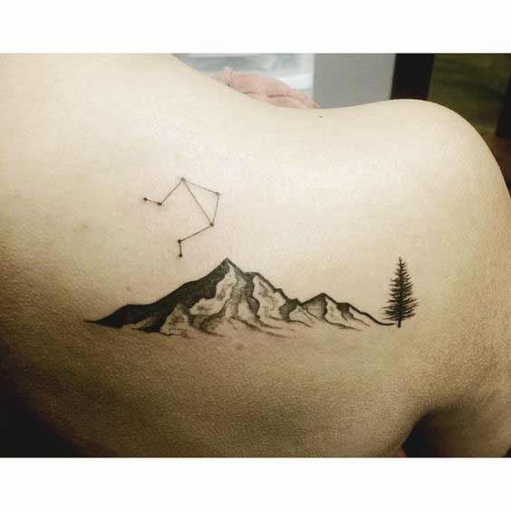 best libra and tree tattoos on shoulder