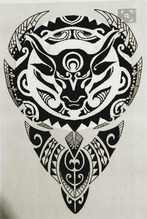 Awesome Taurus bull tattoo design images