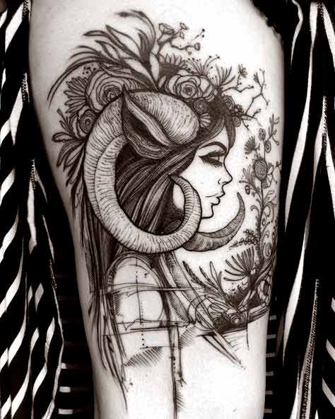 Best aries tattoos for girls