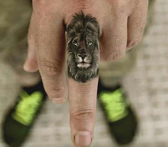 Small Leo lion tattoo designs for guys
