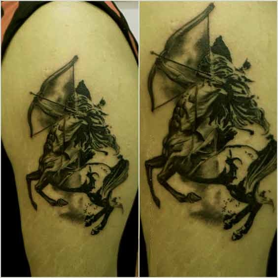 Sagittarius tattoos designs on arm for guys