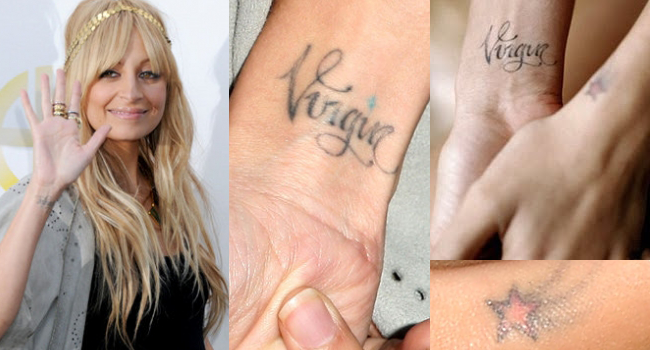 nicole-richie-celebrity-zodiac-tattoo-virgo